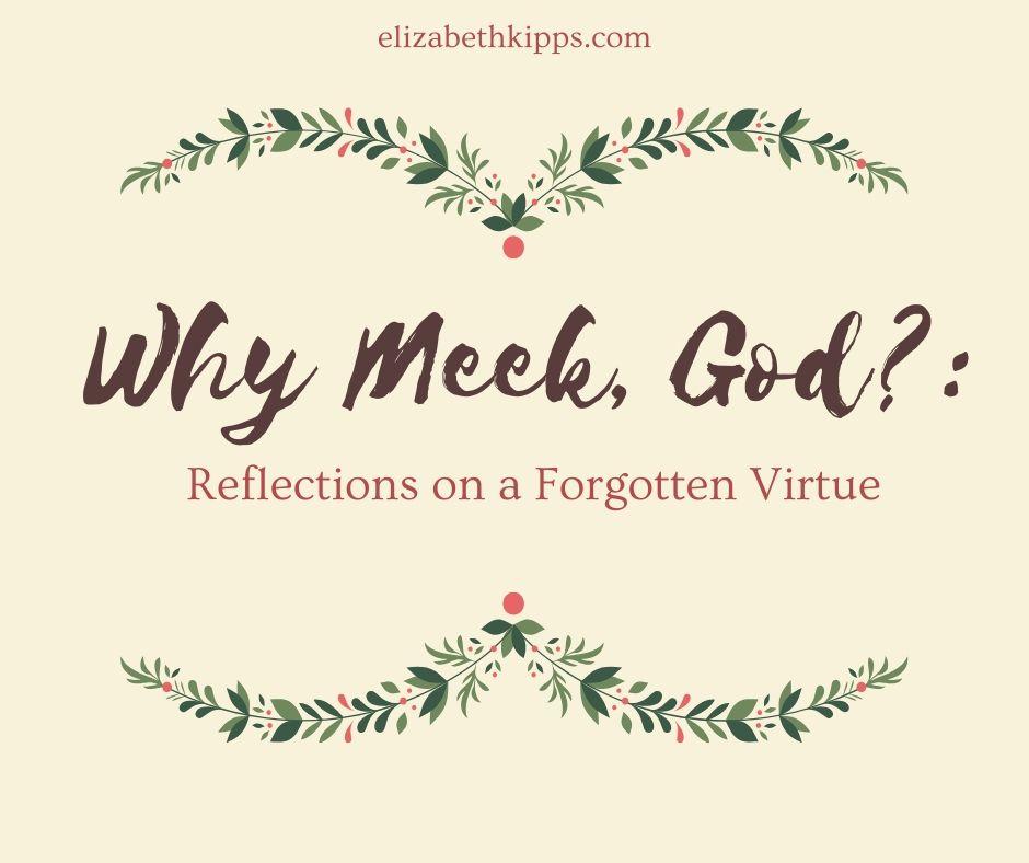 Why Meek, God__